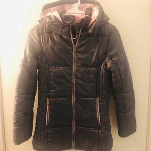 Calvin Klein long hooded jacket - girls